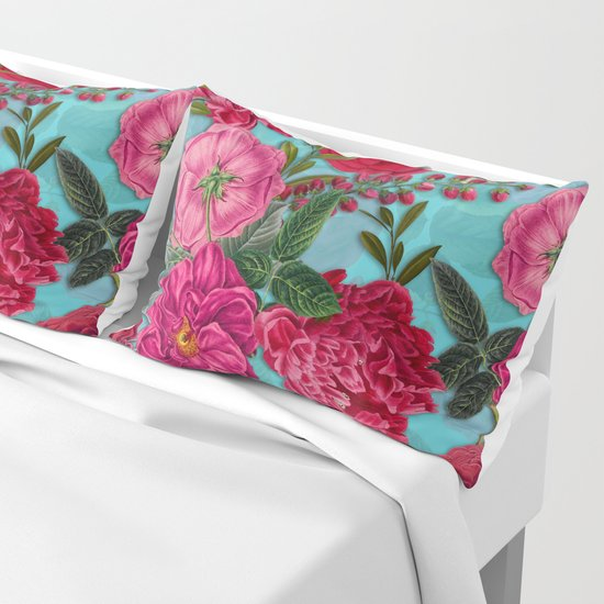Vintage & Shabby Chic - Summer Tropical Flower Garden I by vintage_love