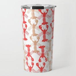 Lobster Print Travel Mug