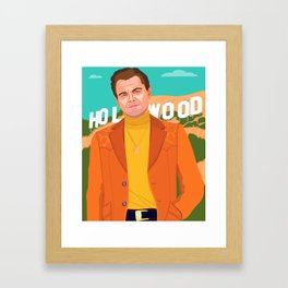Once Upon A Time in Hollywood Framed Art Print
