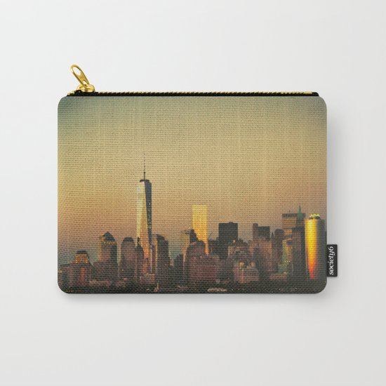 New York City Skyline - Dramatic Sunset Carry-All Pouch