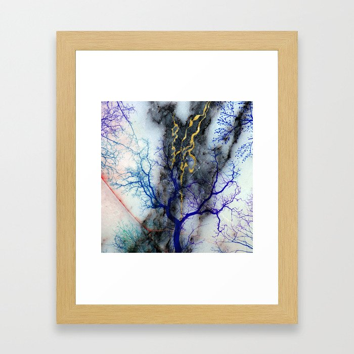 Marble through Tree Branches Framed Art Print