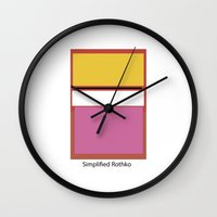 rothko Wall Clocks featuring Simplified Rothko by ELCORINTIO