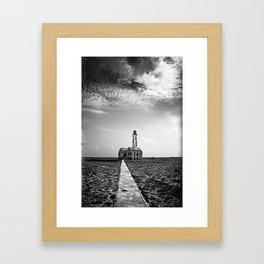 Klein Curaçao (Little Curacao) Lighthouse Framed Art Print