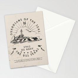 USS Texas Battleship, US Navy Stationery Cards