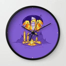 Scary tale ( Concept funny illustration) Wall Clock