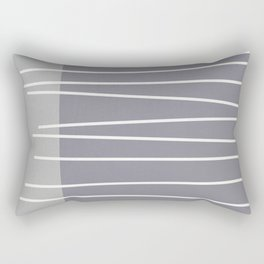 Mid century modern textured gray stripes Rectangular Pillow