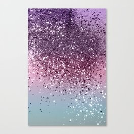 Unicorn Girls Glitter #6 #shiny #pastel #decor #art #society6 Canvas Print