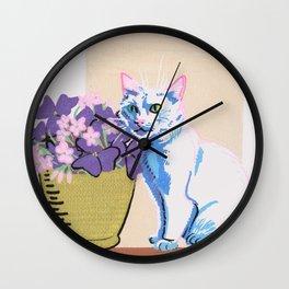 Purple Clover Wall Clock