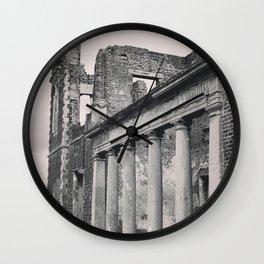 Mansion Walls & Roman Coloumns Wall Clock