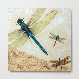 Zen Flight - Dragonfly Art By Sharon Cummings Metal Print