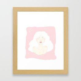 Beautiful like a unicorn Framed Art Print