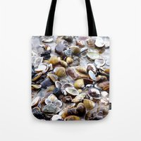 shells Tote Bags featuring Shells by Anne Seltmann