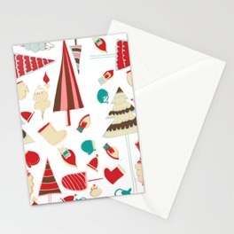 Vintage Christmas white Stationery Cards