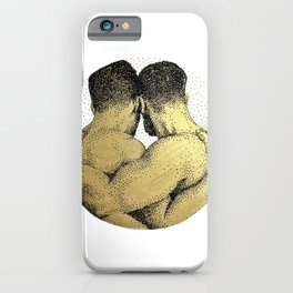 The Pair - NOODDOODs (gold doesn't print shiny) iPhone Case