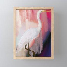 Fairweather Crane Framed Mini Art Print