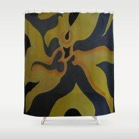 fierce Shower Curtains featuring Fierce Agni by K2KKonceptz