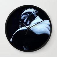bane Wall Clocks featuring BANE by John McGlynn