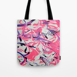 Pink & Purple Paint Drools Tote Bag
