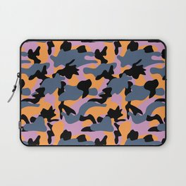 Purple, orange, blue and black Camouflage repeat Print pattern for fashion and home decor by Arcos P Laptop Sleeve