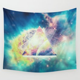 Awsome collosal deep space triangle art sign Wall Tapestry