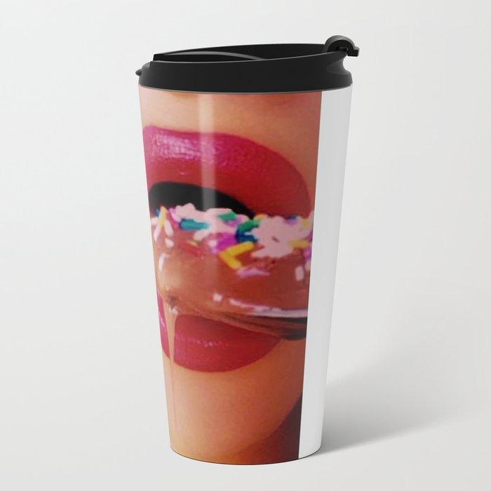 Sprinkled Pudding Lippy  Travel Mug