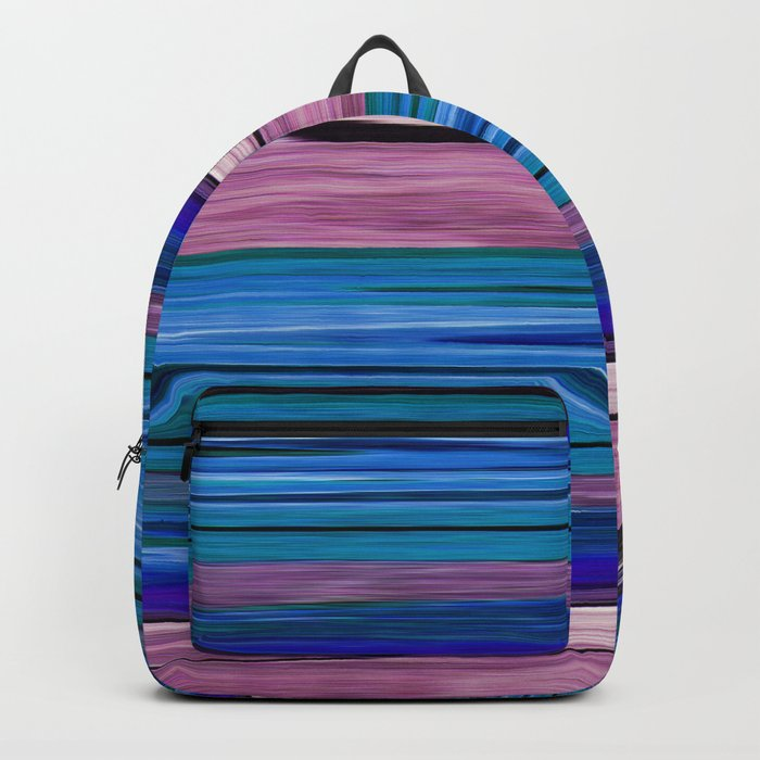 Abstract pattern . lilac blue . Backpack