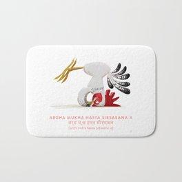 Ardha Mukha Hasta Sirsasana Chicken Yoga Bath Mat