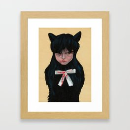 Unsatisfied craving Framed Art Print