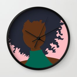 Thoughts of Pink Wall Clock