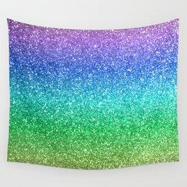 Magic Rainbow Sparkly Glitter Wall Tapestry
