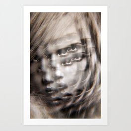 Compound Eyes See her Beauty Multiply Art Print