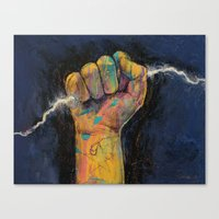 lightning Canvas Prints featuring Lightning by Michael Creese