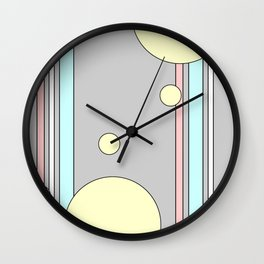 Bubble Stripe Curtains Wall Clock