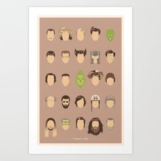 25 FACES OF JIM Art Print