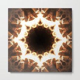 Ring of Fire Fractal Mandala Design Metal Print