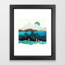 Teal Afternoon Framed Art Print