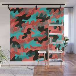 Coral Camouflage 1 Wall Mural
