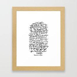 The Lord's Prayer - BW Framed Art Print