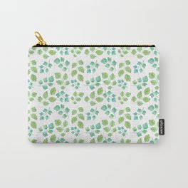 Summer Leaf Watercolor Carry-All Pouch