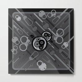 Locks & Chains Scarf Print Metal Print
