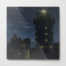Peace at the Lighthouse Metal Print