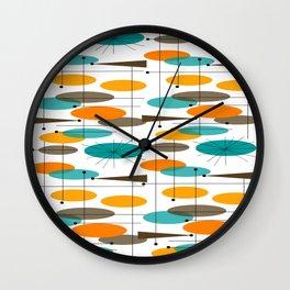 Mid-Century Modern Ovals Abstract II Wall Clock