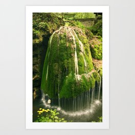 Beautiful unique waterfall in a forest, nature photography, waterfall, Romania Art Print