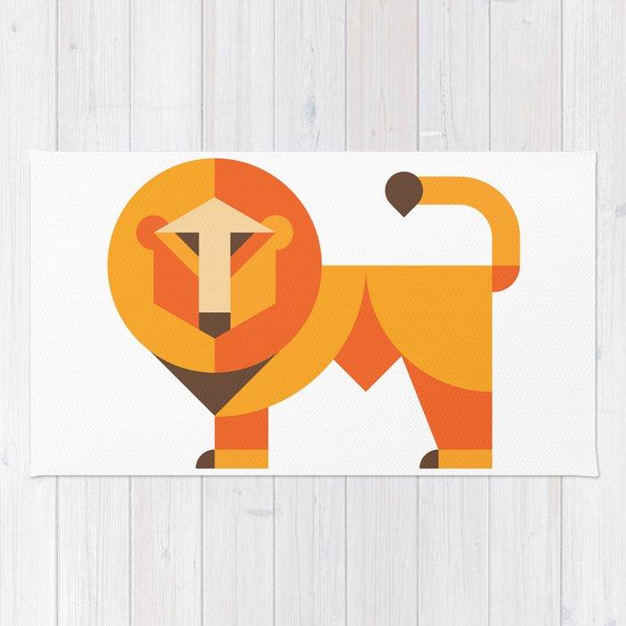 Geometric lion Rug