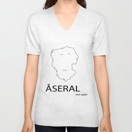 map of åseral Unisex V-Neck