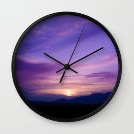 SW Mountain Sunrise - 7 Wall Clock