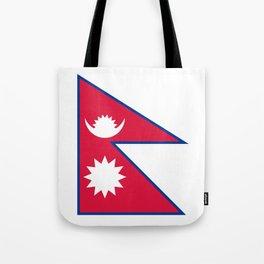 Nepal Flag Nepalese Nepali Triangle Flag Tote Bag