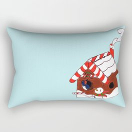 The Birdy's Christmas Cottage Rectangular Pillow