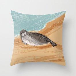 Caspian seal Throw Pillow