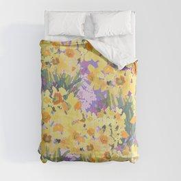 Yellow Daffodil Garden Comforters